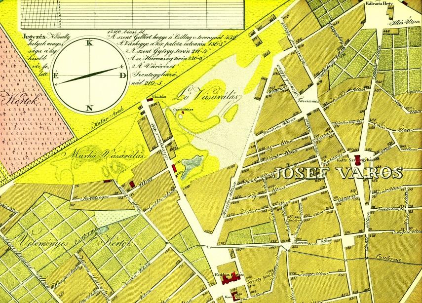 1833, Józsefváros (térképrészlet)