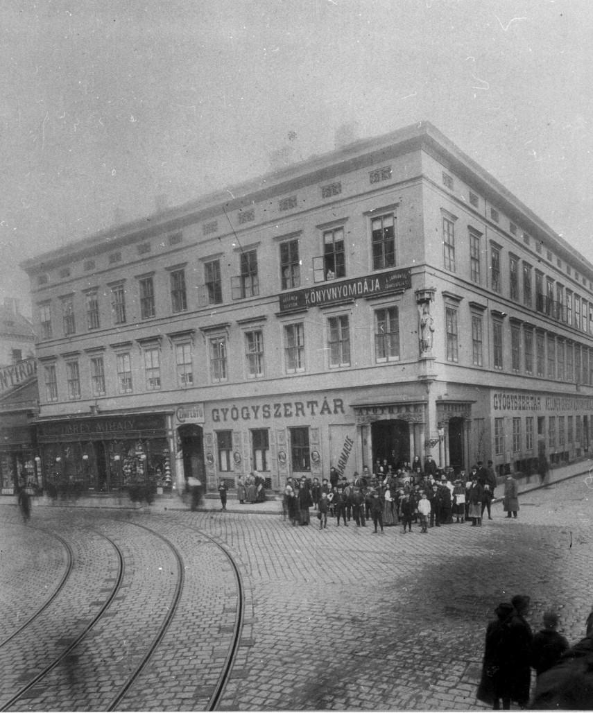 1896 táján Király utca a Csányi utcánál, 7. és 6. kerület