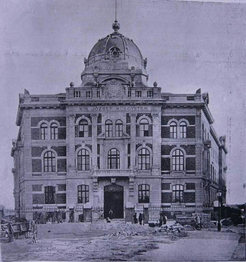 1905, Gellért (Szent Gellért) tér, a KIRÁLYI jÓZSEF MŰEGYETEM