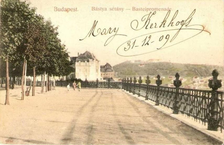 1909, Bástya (Tóth Árpád) sétány, 1. kerület