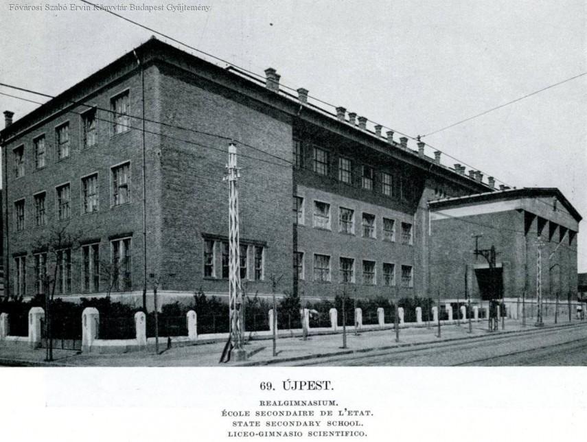 1931, Ferenc József (Tanoda) tér, az ÚJPESTI MAGYAR KIRÁLYI ÁLLAMI FŐGIMNÁZIUM, Újpest város, 1950-től 4. kerület