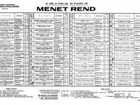 1939, BSZKRT menetrend