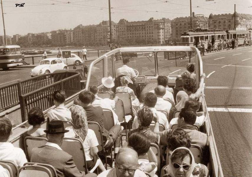 1960-as évek Margit híd a szigeti lejárónál, 13. kerület