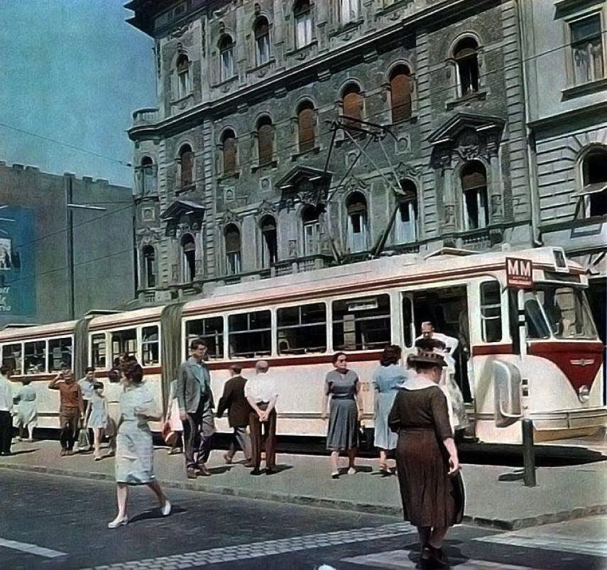 1962, Blaha Lujza tér, Rákóczi út, 8. és 7. kerület