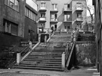 1970, Baka utca a Kis Rókus utca felől a Keleti Károly utca felé