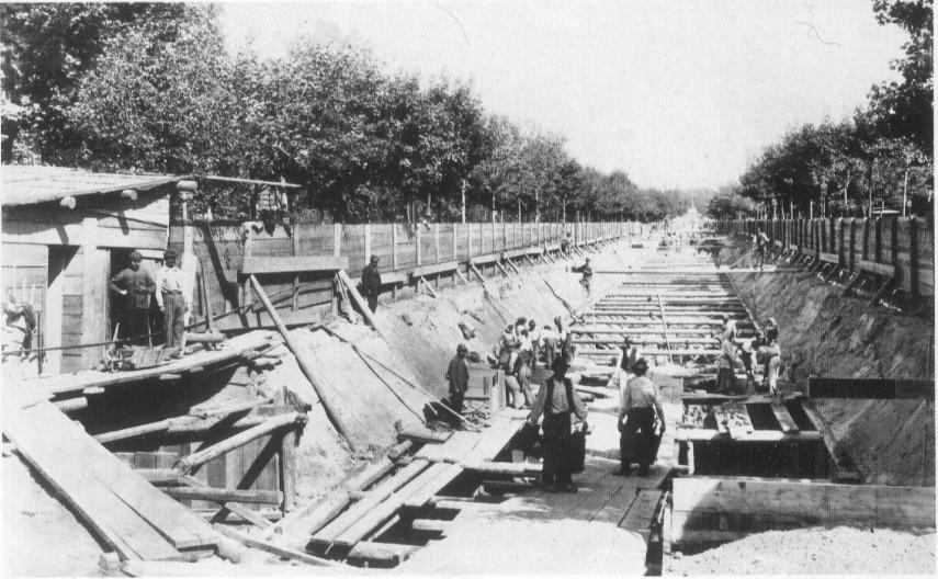 1894, Körönd,  a Földalatti építése, 6. kerület