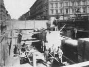 1894, a Földalatti építése, Andrássy út, 6. kerület