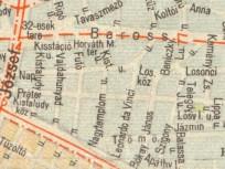 1960-as évek, térképrészlet, 8. kerület