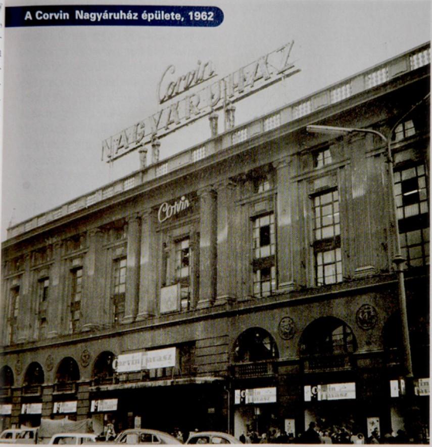 1962, Blaha Lujza tér, Corvin áruház, 8. kerület
