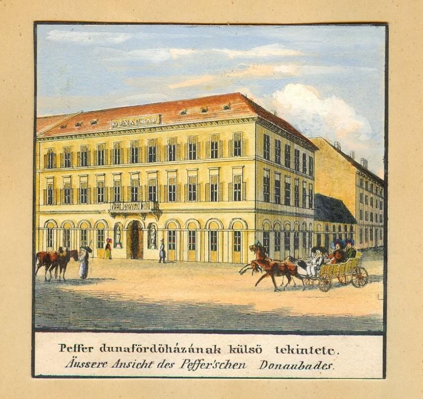 1800-as évek első fele, Kirakodó (Széchenyi István) tér, a Diana fürdő, 4. (1950-től 5.) kerület