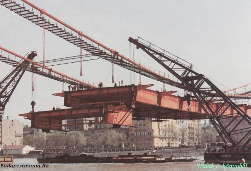 1963, az Erzsébet híd építése, 1. és 5. kerület