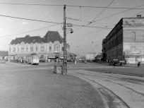 1959, Flórián tér, a Csemege-ház, 3. kerület