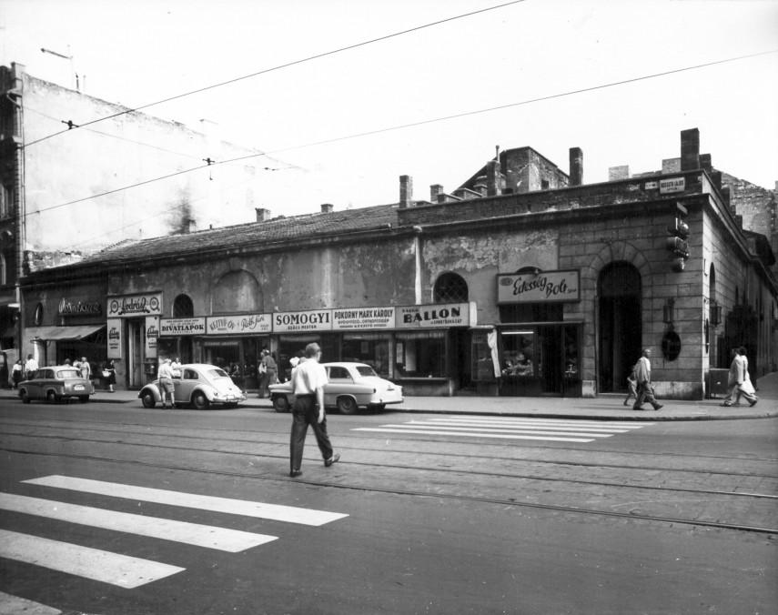 1960, Kossuth Lajos utca a Szép utcánál, 5. kerület