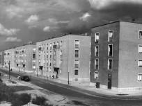 1958, 779. (Merkúr) utca a 786. (Tejút) utca felől nézve. 21. kerület