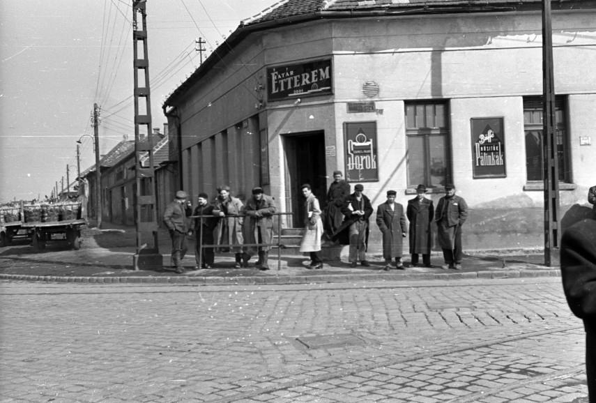 1958, Határ út a Baross utcánál, 20.kerület