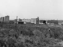 1958, a lágymányosi Duna-part a Petőfi híd budai hídfőjétől délre (a mai Pázmány Péter sétány helyéről nézve), 11. kerület