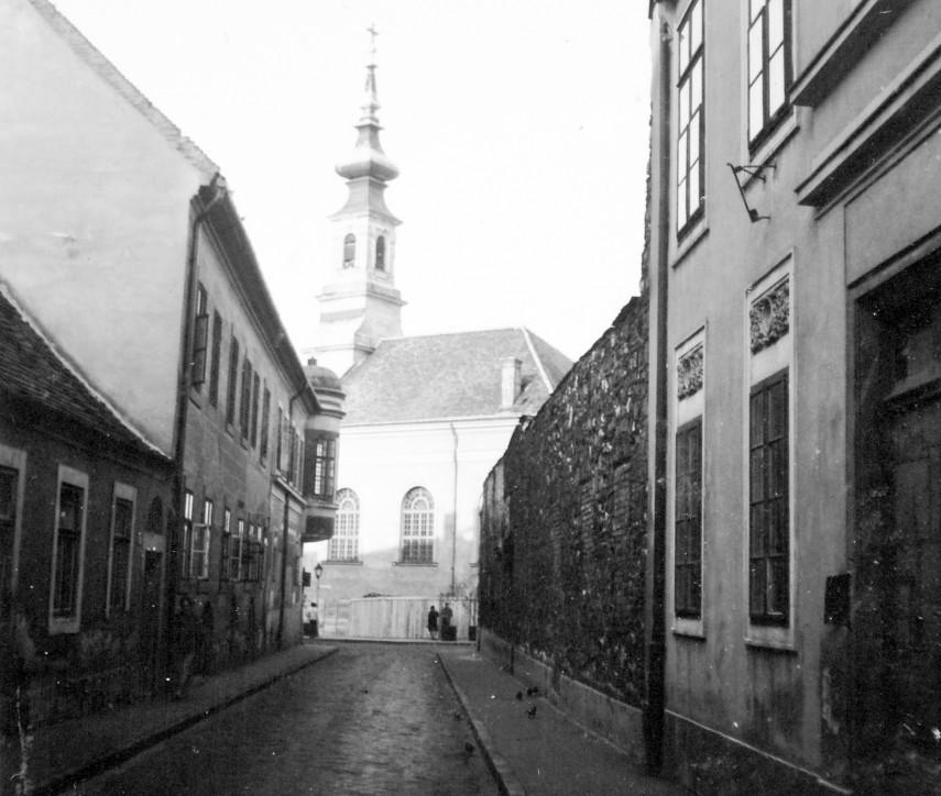 1970, Kard utca az Országház utca felől, 1. kerület