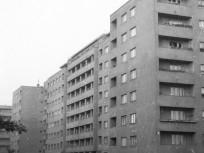 1960, Fivér utca a Fiastyúk utca felől az Övezet utca felé nézve, 13. kerület