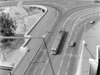 1965, Döbrentei tér, Erzsébet híd budai hídfő, 1. kerület