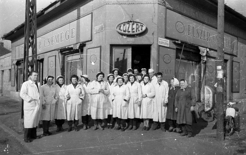 1958, Török Flóris utca az Előd utcánál, 20. kerület