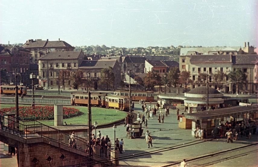 1955, Moszkva tér a Vérmező út felől, 2. kerület