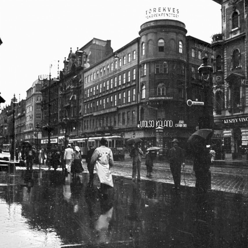 1937, Rákóczi út az Akácfa utcánál, 7. kerület