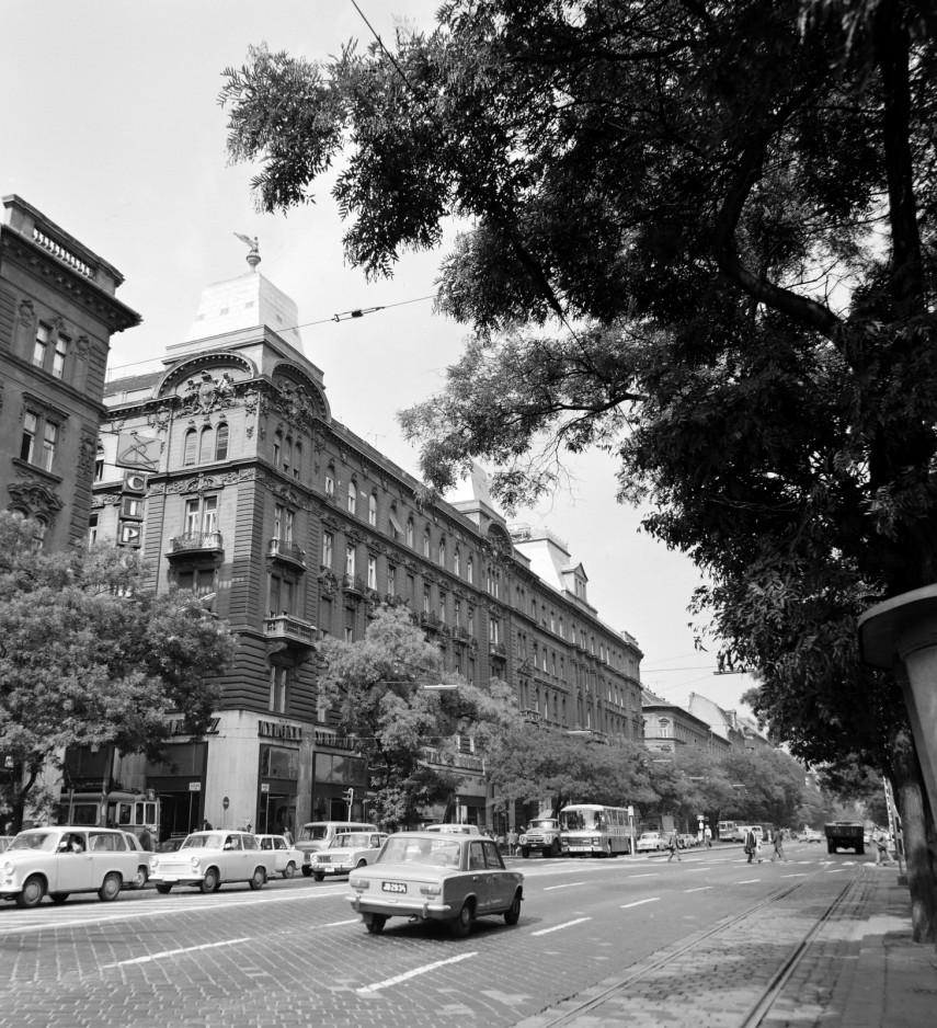 1976, Váci út a Marx (Nyugati) tér felől nézve, 13. kerület