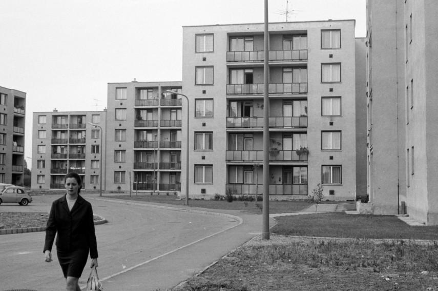 1970, Vikár Béla utca a Vándor Sándor utca felől nézve, 18. kerület