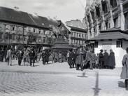 1916, Deák Ferenc tér a Vilmos császár (Bajcsy-Zsilinszky) út felé nézve