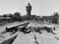 1974, az Árpád úti felüljáró építése Újpest felé nézve, 4. kerület