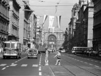 1966, Rákóczi út a Kiss József utcánál,8. és 7. kerület