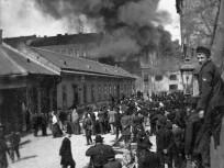 1906, Szeszgyár utca a Baross utca felé nézve, 8. kerület
