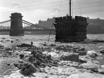 1940, Pesti alsó (Id. Antall József) rakpart, árvíz, 4.,(1950-től5.) kerület