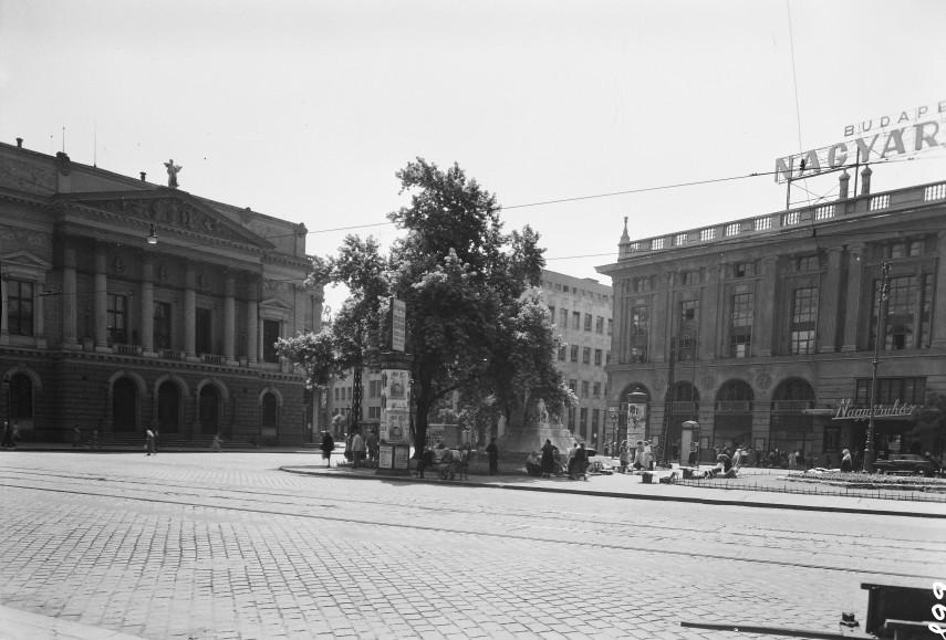 1951, Blaha Lujza tér, Corvin áruház, 8. kerület