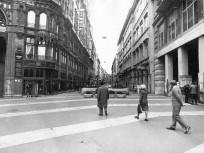 1978, Petőfi Sándor utca a Felszabadulás tér (Ferenciek tere) felől nézve