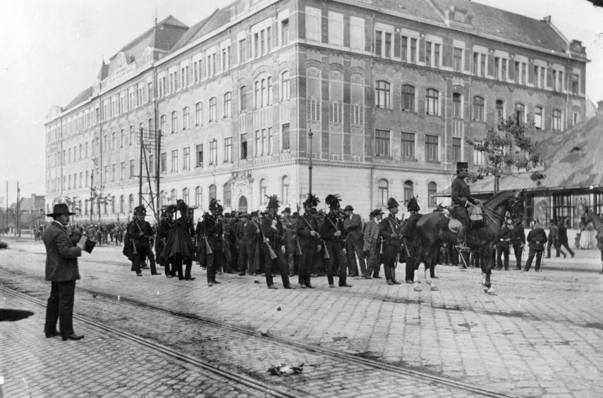 1912, Váci út a Janicsár utcánál, 13. kerület