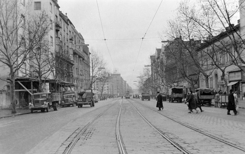 1963, Bartók Béla út, háttérben a Móricz Zsigmond körtér