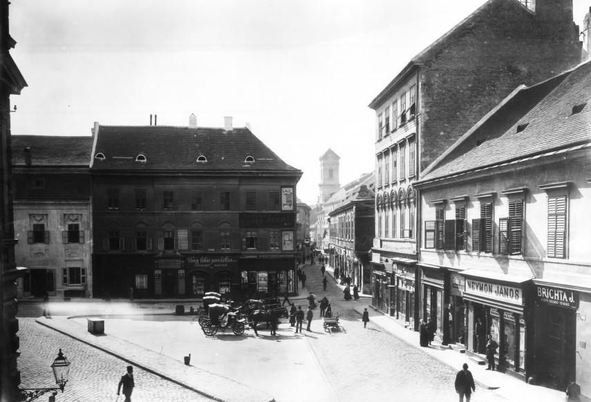 1895 táján, a Váci utca, 4., (1950-től 5.) kerület