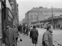 1968, a Garay téri piac a Murányi utca felől, 7. kerület