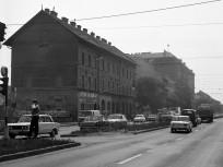 1975, Soroksári út a Hámán Kató (Haller) utcánál, 9. kerület