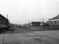 1960, Gyömrői (Ferihegyi repülőtérre vezető) út a Felsőcsatári út kereszteződésénél, 18. kerület