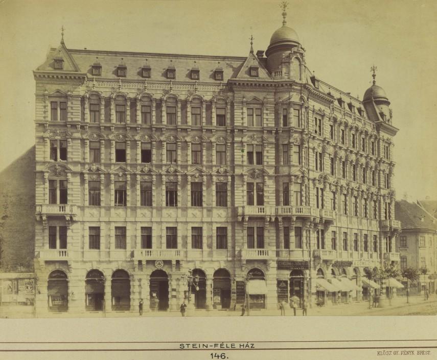1883 táján, Sugár (Andrássy) út, a STEIN-FÉLE HÁZ (Stein-palota), 6. kerület