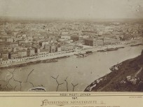 1878 táján, Pest látképe, középpontban a Fővámház a Fővám téren, 9. kerület