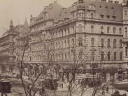 1890-es évek, Teréz (Erzsébet) körút, a Király utcánál, 6. és 7. kerület