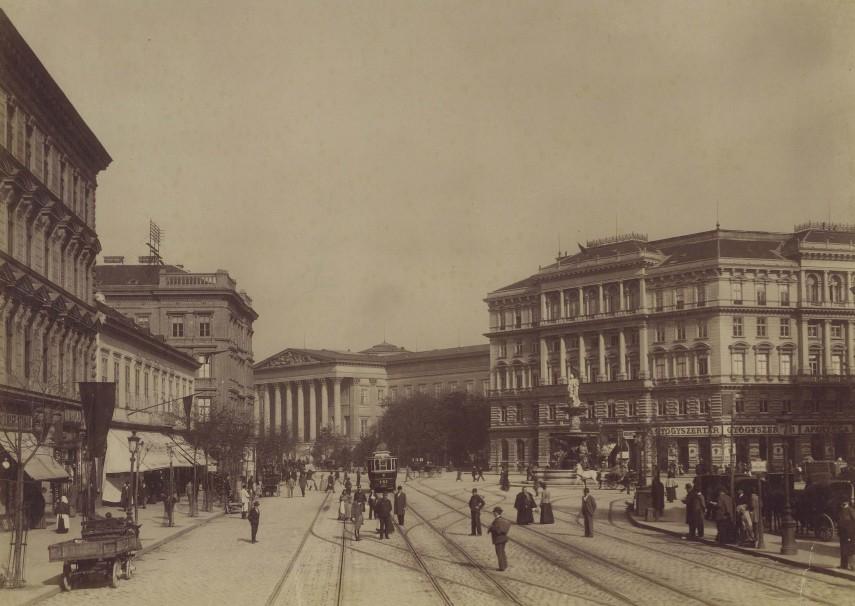 1900 táján, Calvin (Kálvin) tér, 8. és 4. (1950-től) 5. kerület