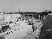 1955, a Béke utcai közúti aluljáró építkezése, 13. kerület