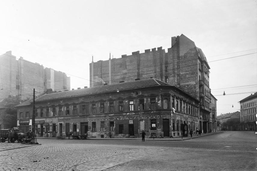 1957, Baross utca a Kálvária (Kulich Gyula) térnél, 8. kerület