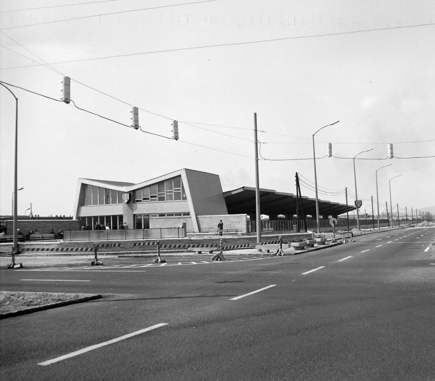 1970, Kerepesi út a Fehér útnál, a metróvégállomás, 10. kerület