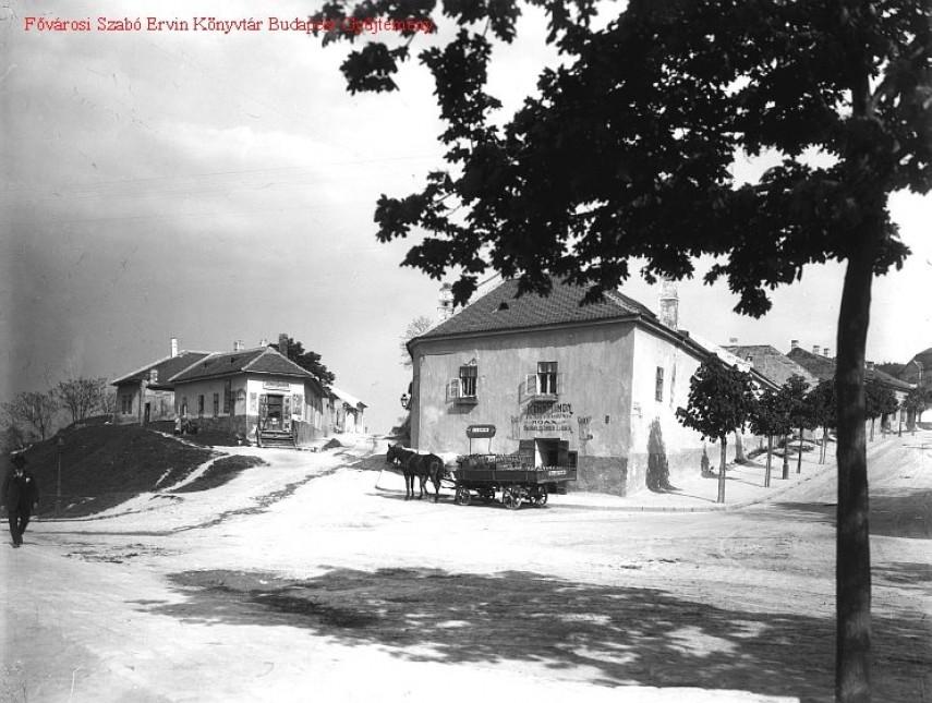 1900 táján, Hadnagy utca (Hegyalja út) 1. kerület
