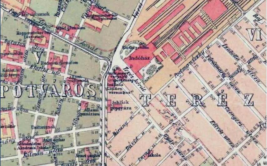 1884, a Pest indóház, 6. kerület